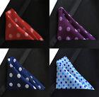 Set 15 PCS Handkerchiefs Men's Pocket Square Silk Hanky Mutio Colors Polka Dots