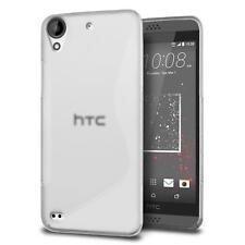 Handy Hülle HTC Desire 825 Silikon Case Cover Schutz Hülle Tasche Transparent