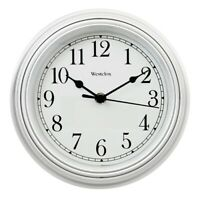 Westclox 46994 Round Simplicity Wall Clock, White Case, 8.5""