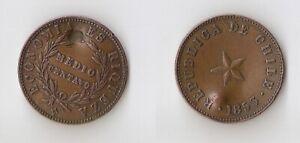 Chile 1/2 medio centavo 1853