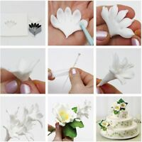 Fondant Pastry Cookie Baking Tools Mould Flower Decorating Petal Cutter Mold