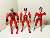 Power Rangers Time Force Red Ranger Action Figures Bundle 2000 Bandai Toys