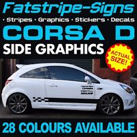 VAUXHALL CORSA D GRAPHICS STICKERS STRIPES DECALS OPEL VXR SXI GSI 1.2 1.4 1.6 D