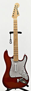 Red Fender Stratocaster Sony Ps4 Rockband Guitar -Harmonix 91261 Wireless Guitar