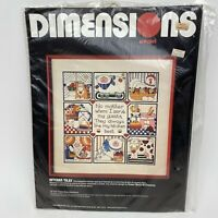 Vintage 1984 Dimensions Kitchen Tiles 1269 Crewel Kit Kitchen Sealed for 14x14