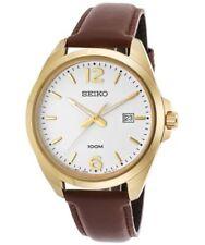 Relojes de pulsera Seiko de cuero para hombre