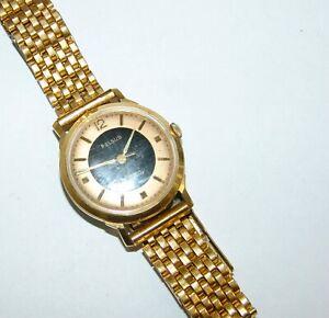 Herren - Armbanduhr Felsus Handaufzug vergoldet Vintage 60/70er Jahre