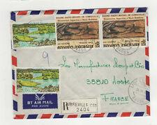République Gabonaise 4 timbres sur lettre R 1980 tampon Libreville /L12