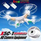 Syma X5C-1 2.4GHz 4CH 6 Axis RC Quadcopter Drone RTF+ HD Camera + 2PC Battery UK