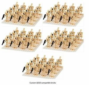 100 X BATTLE DROID ARMY STAR WARS custom  MINI FIGURES ARMY NEW