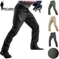 Mens Tactical Pants Cargo Combat Lightweight QuickDrying Hiking Waterproof  IX9