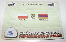 OLD TICKET INVITATION  World Cup 2002 q * Poland - Armenia in Warsaw