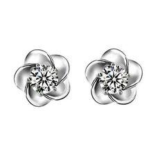 2*0.5CT Flower diamond Earrings 925 Sterling Silver Love Heart Gift HER MOM-ER29