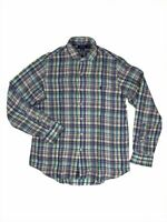Ralph Lauren Polo Mens Pony Logo Plaid Shirt Colorful Linen New