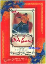 2010 TOPPS ALLEN & GINTER AUTO RED INK: MIKE PARSONS #9/10 AUTOGRAPH SURFER