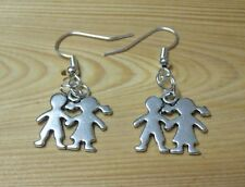 Earrings love is Boy And Girl Be My valentine/mothers day Birthday/ Gift/charm