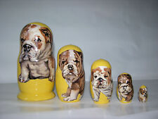Bulldogs nesting doll