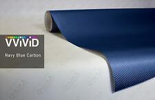 Navy blue 3d carbon fiber VVIVID8 vinyl car wrap film DIY decal, 6ft x 5ft