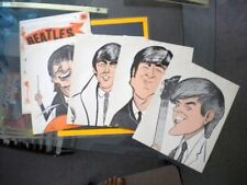 Beatles rare original Pin up 4 screamers set 1964