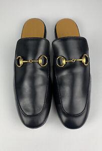 GUCCI Princetown Horsebit Black Leather Slipper Loafer Men UK Size 7 - US 7.5