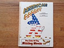 American Rabbit: Case of the Missing Moose by Moskowitz/Johnson 80's Cult Find!