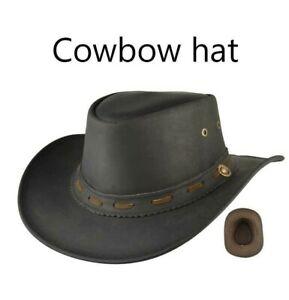 UK Mens Cowboy Hat Genuine Leather Western Horse riding Walking Hat-iHATS London