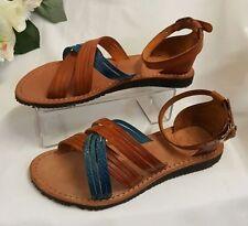 Sandalias y chanclas de mujer azules, talla 38