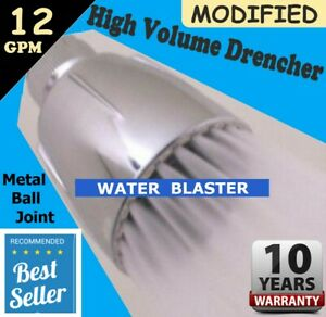 **WATER BLASTER**  SHOWER HEAD  >  Modified 12 GPM HIGH VOLUME > Soft Full Spray