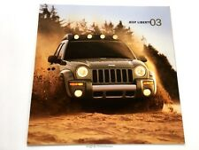 2003 Jeep Liberty 24-page Original Sales Brochure Catalog - Limited Renegade