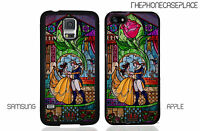 Disney Beauty and the Beast Stained Glass Dance Phone Case Cover. Free Shipping.