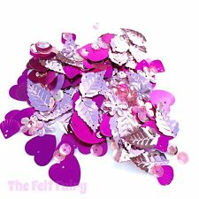 Bag of 100+ Sparkling Pink Sequins Mixed Pinks