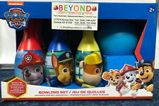 NEW PAW PATROL BOWLING SET TOY 6 PINS 1 BALL INDOOR & OUTDOOR FUN