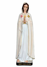 Our Lady of Rosa Mystica resin statue cm. 95 with glass eyes