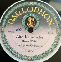 """Parlophon Orch. """"El Capitain / Alte Kameraden"""" rare marches Parlophon 78rpm12"""""""