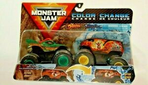 2021-Spin Master Monster Jam Series 13 Color Change Dragon & Thunder Bus-1:64-3+