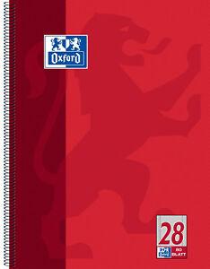 Oxford Collegeblock Din A4+ kariert, blanko, liniert, mit oder ohne Rand 80 Bl.