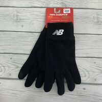 New Balance Size S/M Black Fleece Mens Gloves Cold Weather Gear - Touch Tip