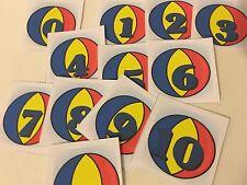 Ball - 0-10 Number Cards - Laminated Card Set- Pre-school- Kindergarten