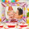 Aluminum Foil Balloons Photo Frame Photo Props Happy Birthday Party Decoration