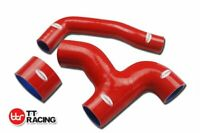 For Subaru WRX GDB Top Mount Intercooler Silicone Y-pipe Hose Kit Red