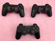 Lot of 3 Sony PS3 Dualshock 3 Wireless Controller - BLACK   | O59