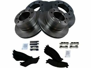 For 2003-2008 Dodge Ram 3500 Brake Pad and Rotor Kit Front and Rear 23329FY 2004