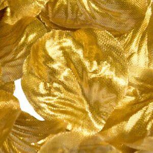 Metallic Gold Rose Petals Fabric Confetti (Bulk Bag of 1000 petals)