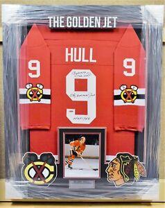 Bobby Hull Chicago Blackhawks Framed Autographed Jersey TRISTAR COA