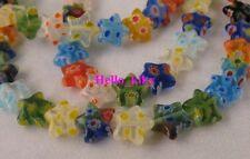 3 Strands Millefiori glass Star beads 10mm M710