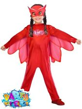 PJ Masks Costume Boys Girls Superhero Kids Child Fancy Dress Official UK Outfit Owlette 7 - 8 Years