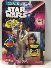 Star Wars JusToys Han Solo Bend-Ems MOC 1993