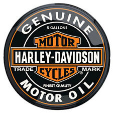 "HARLEY DAVIDSON TRADE MARK GENUINE MOTOR OIL CAN Pub Light-110V 16"" Round"