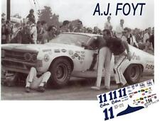 CD_1213 #11 A.J. Foyt  1970 Ford Cobra   1:24 scale decals