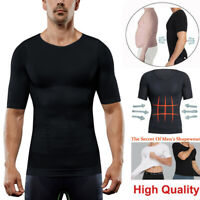 Men Ultra Slim Body Shaper Posture Corrector Vest Abdomen Compression Shirt Tops